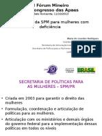 1 as Políticas Da SPM Para Mulheres Com Deficiência