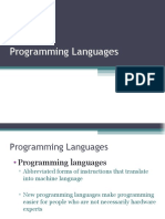 Programming Language Comp Sci