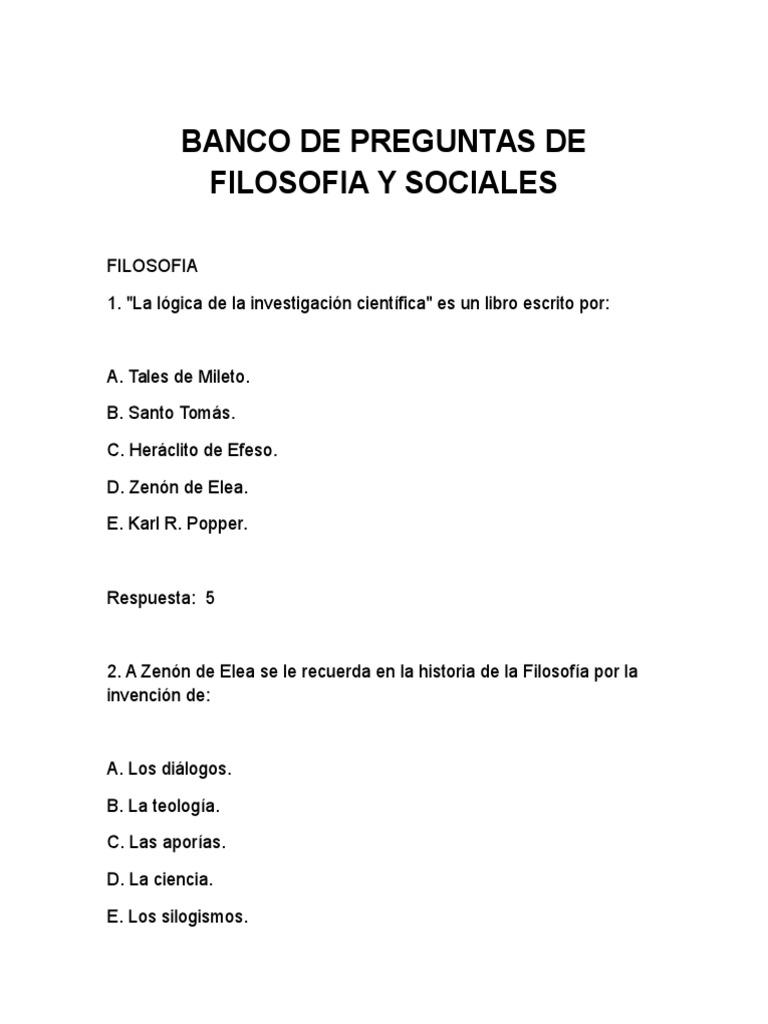 BANCO DE PREGUNTAS DE FILOSOFIA..docx