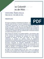 Convocatoria  IV Congreso Colombiano de Estudiantes de Historia