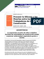 Prevencion de La Silicosis