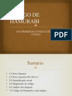 Código de Hamurabi - História do Direito Slide