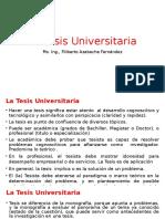 01-La Tesis Universitaria
