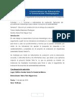 Mód 11 s5 u2 Actividades 1 y 2 Técnicas e Instrumentos y Aplicación Del Procedimiento Metodológico