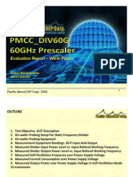 PMCC DIV60G 60GHz Prescaler Test Report