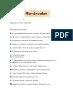 Reglas de Uso de Las Mayusculas