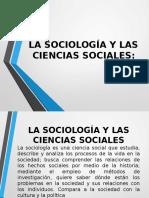La Sociología y Las Ciencias Sociales