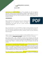 Resolucion Modelo de Residente de Obra Huacar