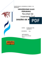 Informe Concreto Diseno de Mezcla