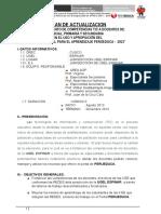 Plan de Actualizacion Ugel Espinar 2013-Perueduca
