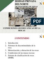 Condiciones Geomecanicas de La Roca 1.