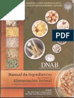 MANUAL DE INGREDIENTES DE UTILIDAD EN ALIMENTACIÓN ANIMAL