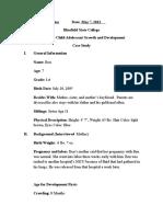child development case study- ben