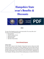 Vet State Benefits & Discounts - NH 2016