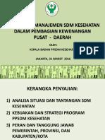 Kepala Badan PPSDM Kesehatan
