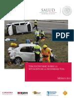 Tercer Informe Sobre La Situacio n de La Seguridad Vial Me Xico 2013 CONAPRA