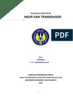 Petunjuk Praktikum Sensor Dan Transduser