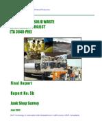 Report 5b - Junk Shop Survey