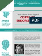 National Brain Appeal - Celebrity Endorsements