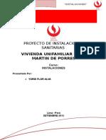 Proyecto Instalaciones Sanitarias - San Martin de Porres