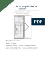 Calculo de Las Propiedades de Sección