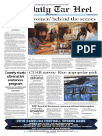 The Daily Tar Heel for April 15, 2016