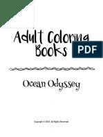 Adult Coloring Books Ocean Odyssey