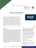 Apnea Del Prematuro Pediatrics 2016
