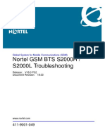 GSM BTS S2000H or S2000L Troubleshooting (411-9001-049_18.03)