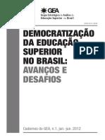 democratização e educação superior no brasil