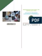 Informe de Hidrometalurgia