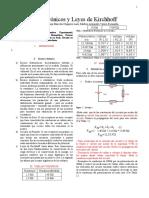 Circuitos Electronicos y Leyes de Kirchhoff