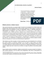 German Cantero - Practicas Institucionales y Derecho a La Politica
