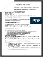 1.PROIECT DIDACTIC - Comprimate Si Drajeuri