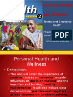 Personal Health-emotional Mental