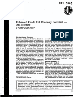 Enhanced Crude Oil Recovery Potential an Estimate