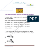 IMO Class 4 Sample Paper
