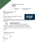 Surat Lantikan Ketua Rombongan lawatan ke kundasang
