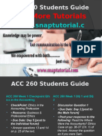 ACC 260 Apprentice tutors/snaptutorial