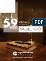 """59 Concurso Fundación Caja Mediterráneo de Cuentos """"Gabriel Miró"""". Bases"""