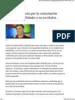 Billi Gates Contrata Basado en Habilidades y No en Títulos