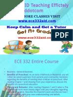 ECE 332 AID Teaching Effectively ece332aiddotcom