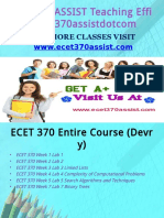 ECET 370 ASSIST Teaching Effectively ecet370assistdotcom