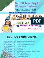 ECO 100 MASTER Teaching Effectively eco100masterdotcom