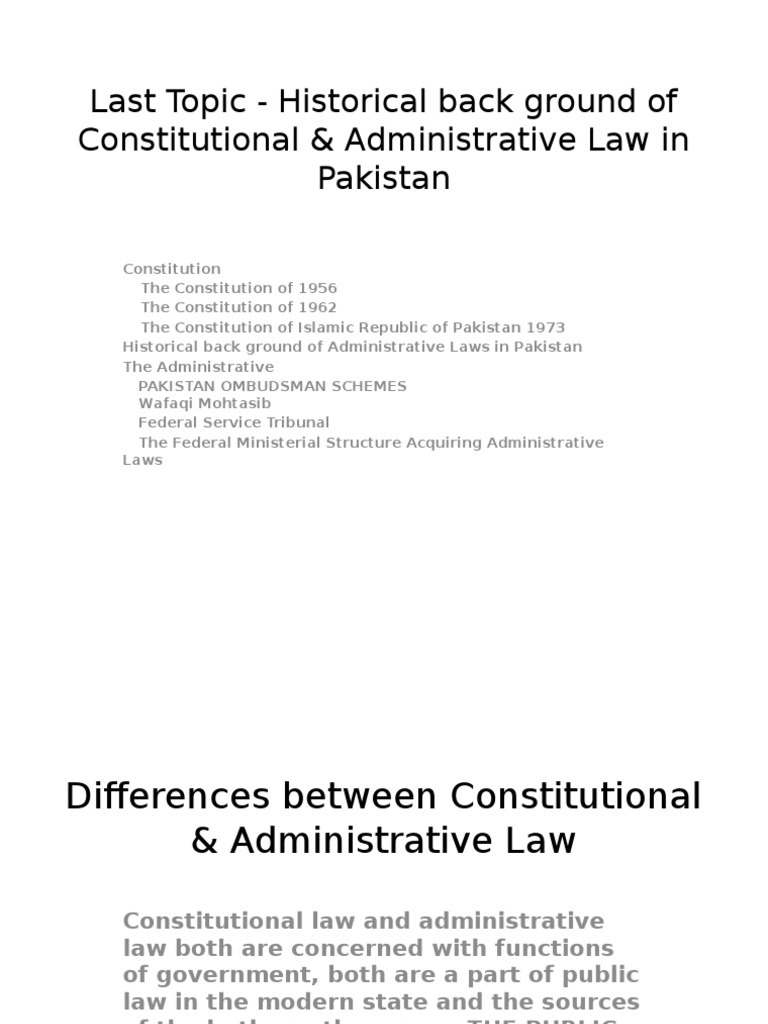 relation between constitutional law and administrative law