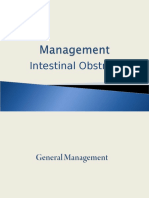 Management of Intestinal Obstruction
