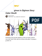All 240 Digimon in Digimon Story_ Cyber Sleuth