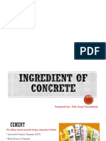Ingredient of Concrete