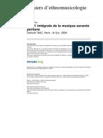 Ethnomusicologie 1253 8 Radif Integrale de La Musique Savante Persane