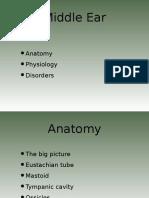 Middle Ear Fiziologjia